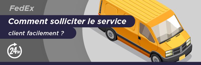 Service client pour envoyer un colis avec FedEx