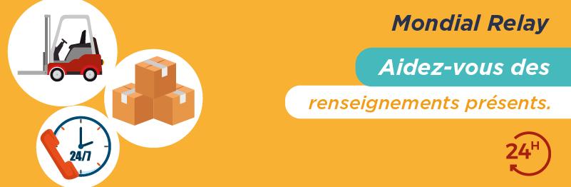 Service client por envoyer un colis avec Mondial Relay