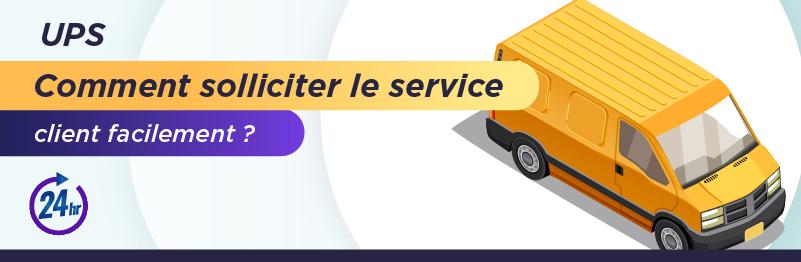 Service client pour envoyer un colis avec UPS